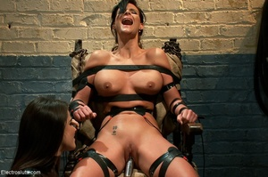 Skank is strapped to a chair, with her f - XXX Dessert - Picture 17