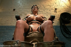 Skank is strapped to a chair, with her f - XXX Dessert - Picture 18