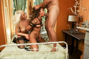 Girl withstands double penetration with  - XXX Dessert - Picture 16