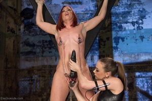 Slut on a Saint Andrews cross is made to - XXX Dessert - Picture 8