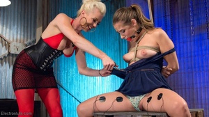 Electro-sex and a fake black cock keep a - XXX Dessert - Picture 6