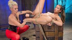 Electro-sex and a fake black cock keep a - XXX Dessert - Picture 11