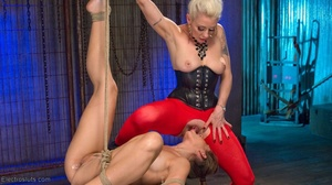 Electro-sex and a fake black cock keep a - XXX Dessert - Picture 12