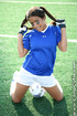 naughty soccer babe pigtails