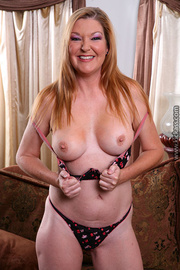 gorgeous mom displays her