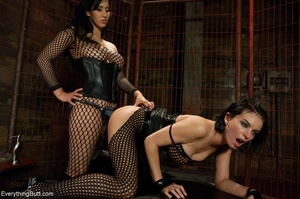 Females in fishnets look hot when playin - XXX Dessert - Picture 10