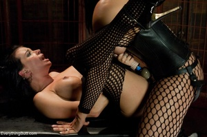 Females in fishnets look hot when playin - XXX Dessert - Picture 11