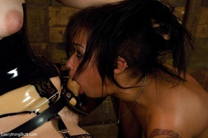 Ass-licking lady is throat-fucked by her - XXX Dessert - Picture 13