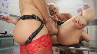 anal, lesbian, rough sex, watching