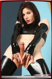 perfect bitch-with-a-dong black latex