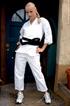 blonde karate chick screams