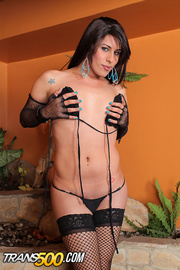 fantastic diva-with-a-ding-a-ling black lingerie