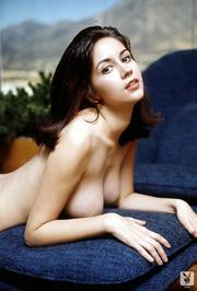 stunning brunette model showing