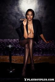 stunning ebony model with