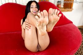 brunette, foot, lingerie, toes