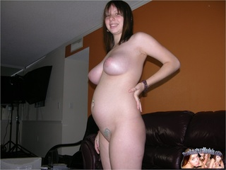 pregnant young babe wearing