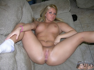 blonde bombshell seduces slowly