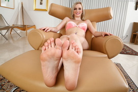 blonde, dick, feet, foot