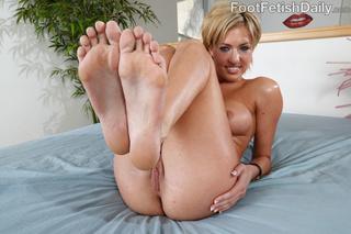 lusty blonde black feet