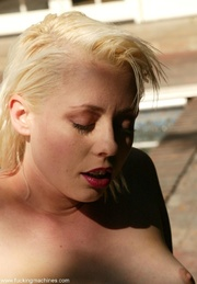 blonde gal uses crazy