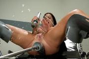busty brunette pornstar squirts