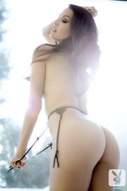 dark haired model takes
