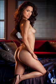 petite brunette playboy model