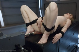 blonde, fucking machines, tied up