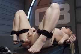 blonde, fucking machines, tied up