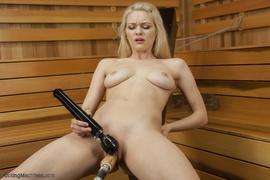 blonde, drilled, fucking, fucking machines