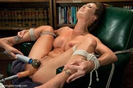 brunette, fucking machines, slut, tied up