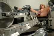 blonde gal rides sybian