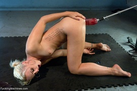 blonde, drilled, fucking machines