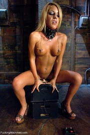 wild blonde lady with
