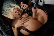 blonde gal pantyhose drills