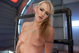 blonde, cunt, drilled, fucking machines