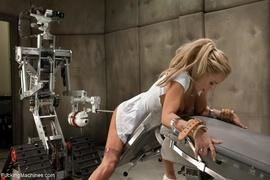 blonde, fucking machines, lady, pussy