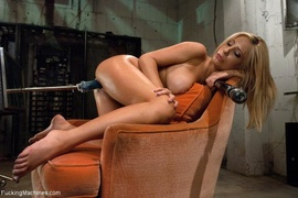 blonde, drilled, fucking machines, naughty