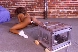 boobs, ebony, fucking machines, lady