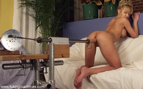 blonde, drilled, fucking machines, milf
