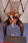 ass, fucking machines, lady, stockings