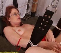 bitch, fucking machines, redhead, solo