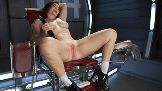 fucking machines, redhead, solo