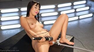 asian, fucking machines, lady, solo