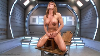 blonde, drilled, fucking machines, squirt