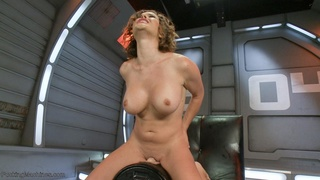 brunette, fucking, fucking machines