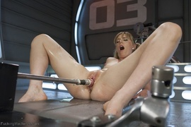 blonde, fucking machines, squirt