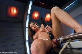 brunette, fucking, fucking machines, lesbian