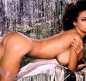 Glamorous ebony babe is ready to display her big tits