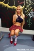 schoolgirl short dress invites